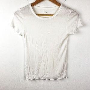 SO | Girls Plain White Basic Tee Shirt Extra Small